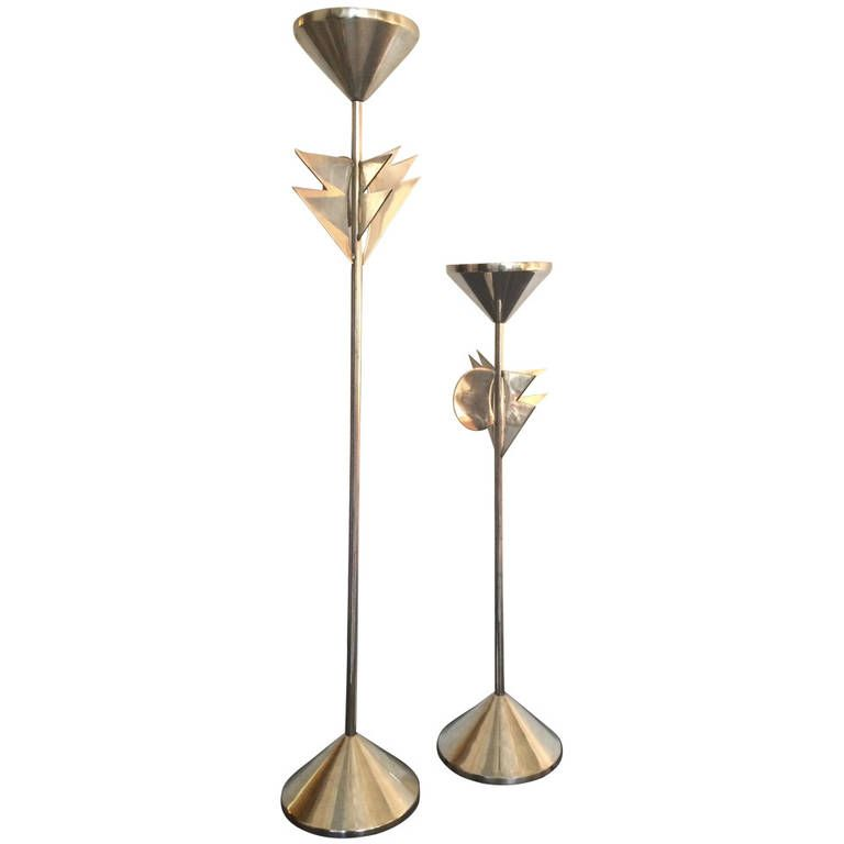 Super Razza Candlesticks by Alessandro Mendini | From a unique collection of antique and modern candleholders and candelabra at https://www.1stdibs.com/furniture/lighting/candleholders-candelabra/