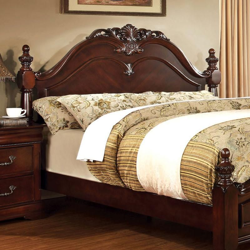 Mandura Traditional English Style Cherry Bed Wood bed