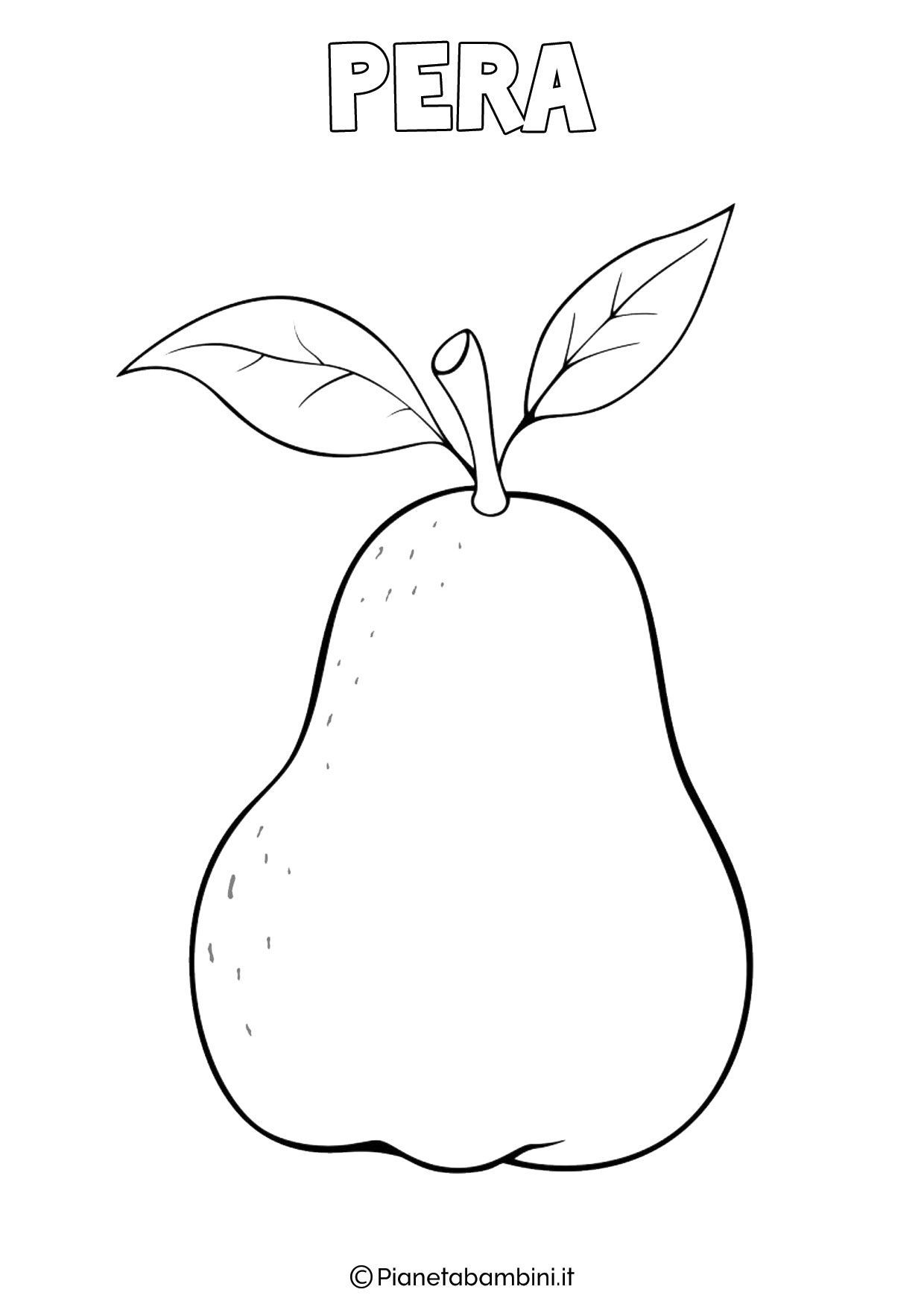 Free Printable Leaf Coloring Pages For Kids Fruits Drawing