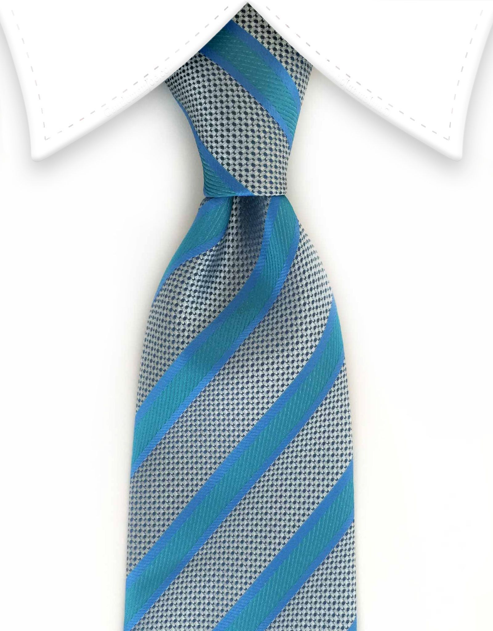 df0efdffd92f Turquoise, Green & Silver Striped Tie | Products | Tie, Turquoise, Green