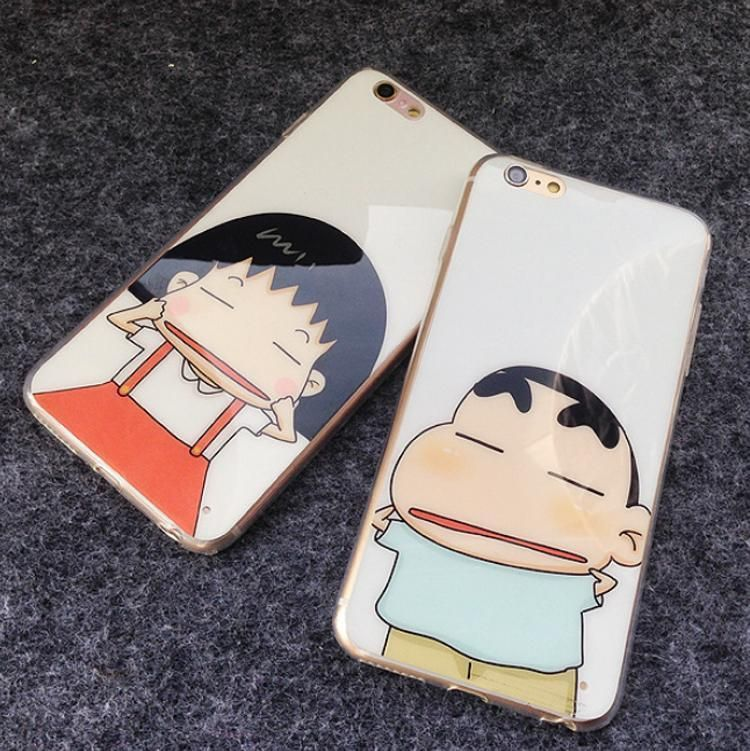 Funny Maruko Chan Shin Chan Couple Phone Case Cover For Iphone 5 6 S Plus P408 Ebay Wallpaper Iphone Love Couples Phone Cases Love Couple Wallpaper