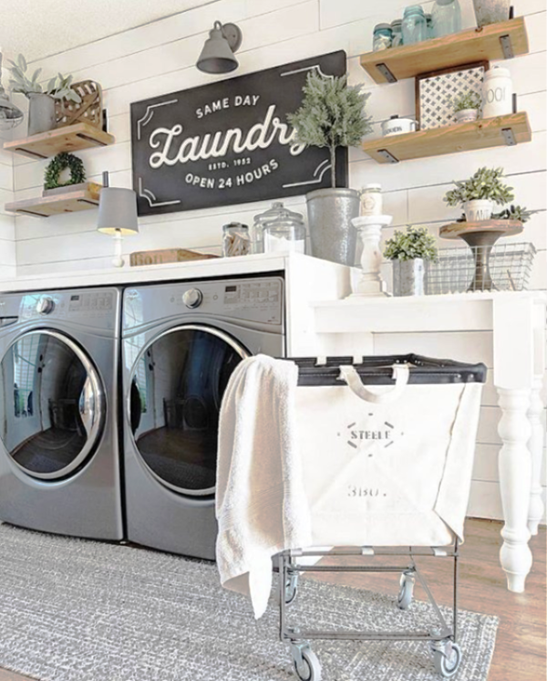 Love This Farmhouse Laundry Room Rug What A Pretty Soft Farmhouse Rug These Affordable Farmhous Laundry Room Rugs Farmhouse Laundry Room Laundry Room Design