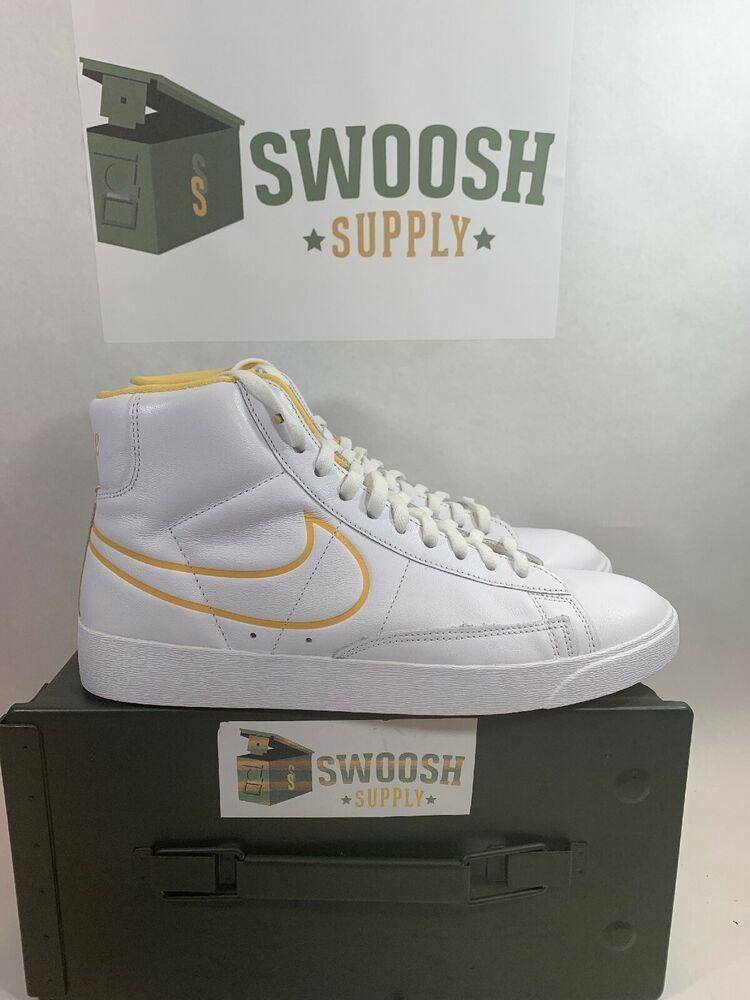 Nike Blazer Mid White Topaz Gold Women/'s CJ3643-100 Size 9.5