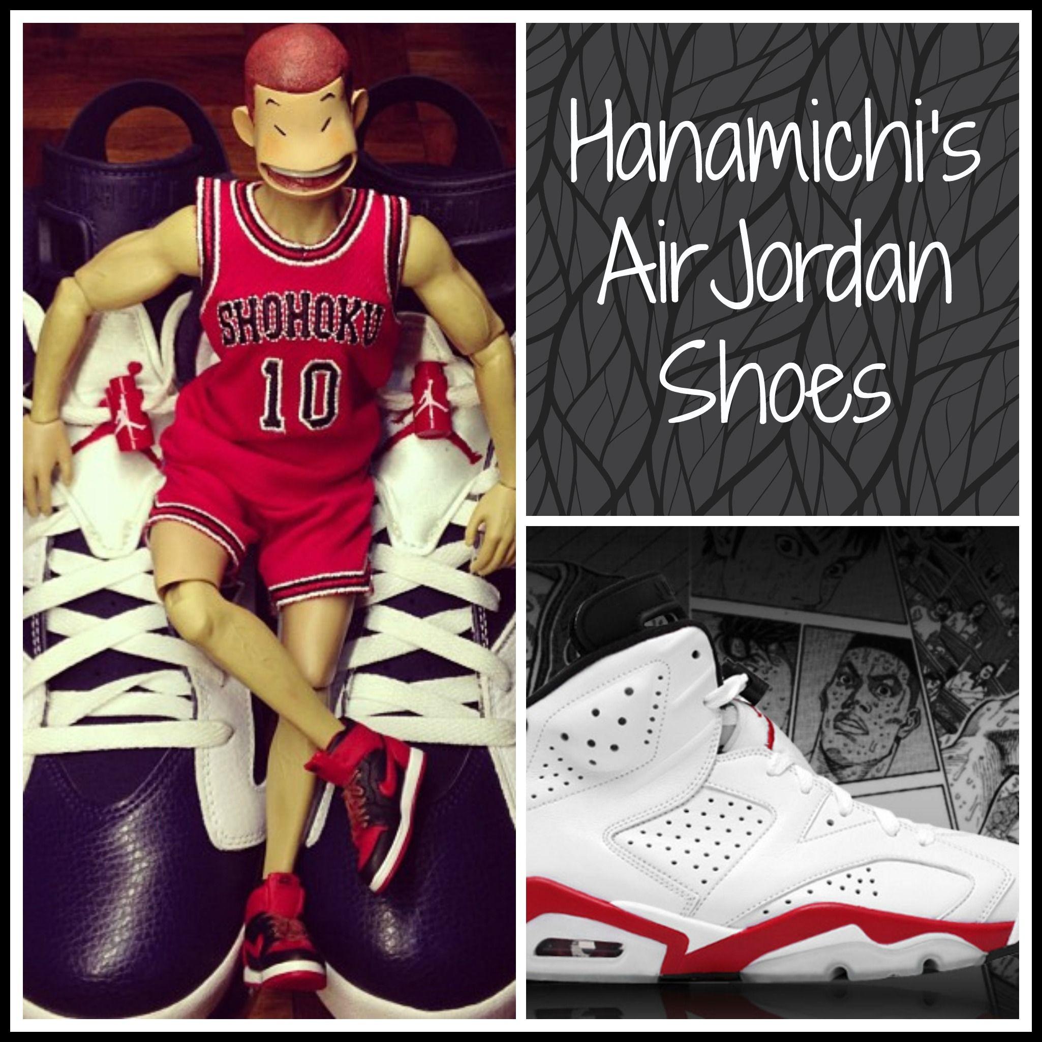 Hanamichi's Air Jordan Shoes | Watch Slam Dunk English