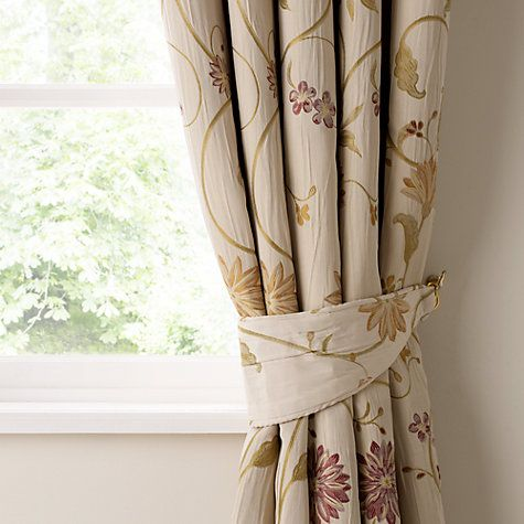 Buy John Lewis Emma Pencil Pleat Lined Curtains, Claret Online at johnlewis.com
