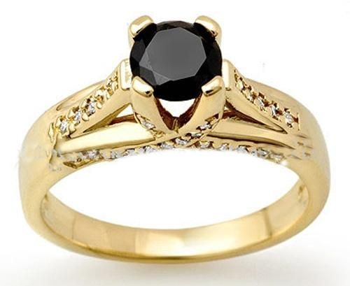 Engagement Rings With Black Diamonds In Setting 27
