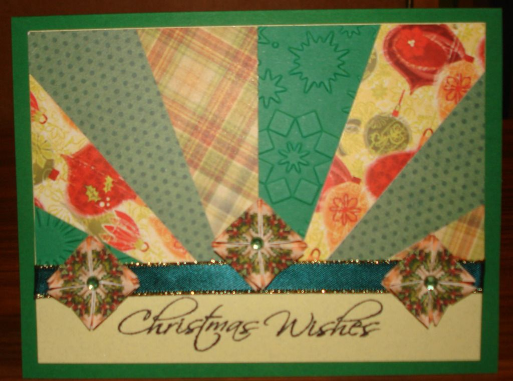 Starburst Christmas card