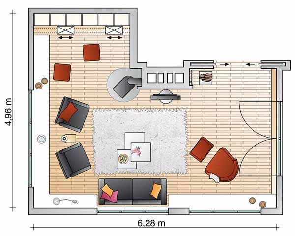 Interior Design Room Layouts | ... Shelves for Living Room Makeover, Space  Saving