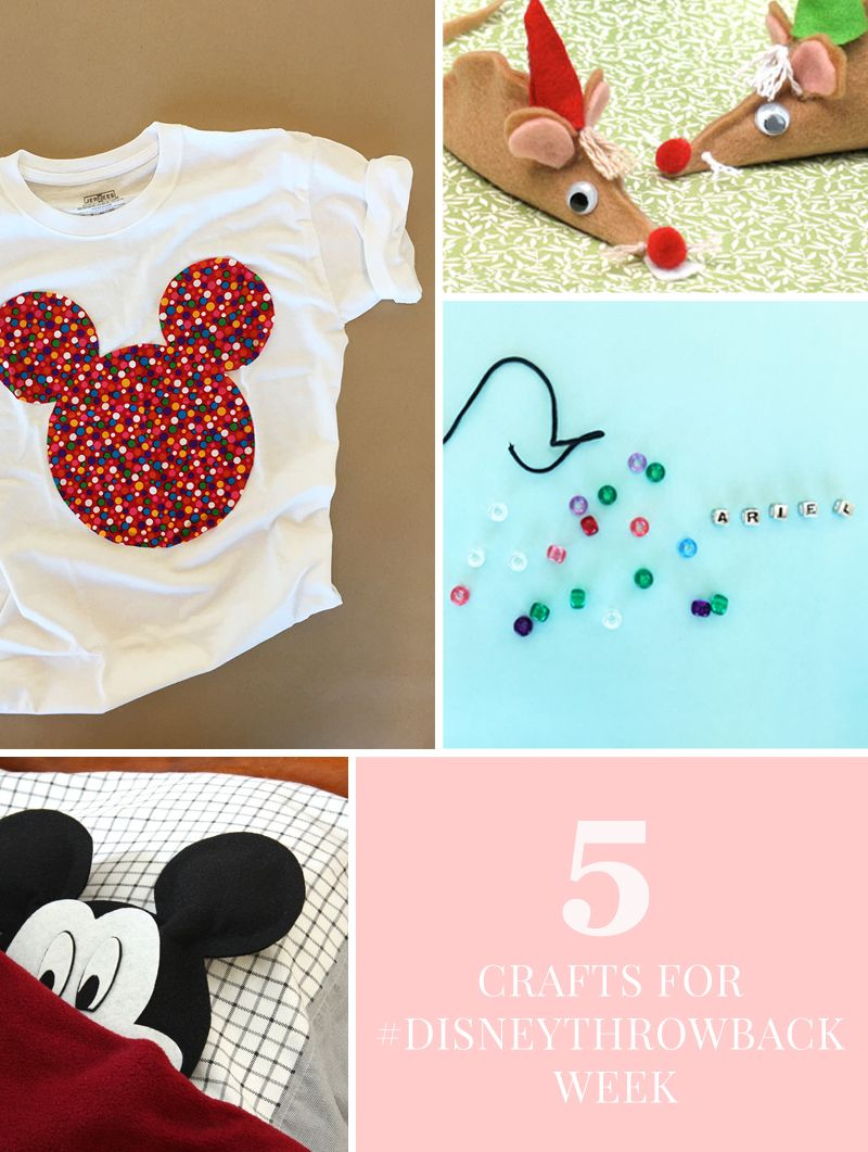 These #DisneyThrowback DIYs and crafts are the perfect way to tell the kids all about the days before iPads and hashtags.