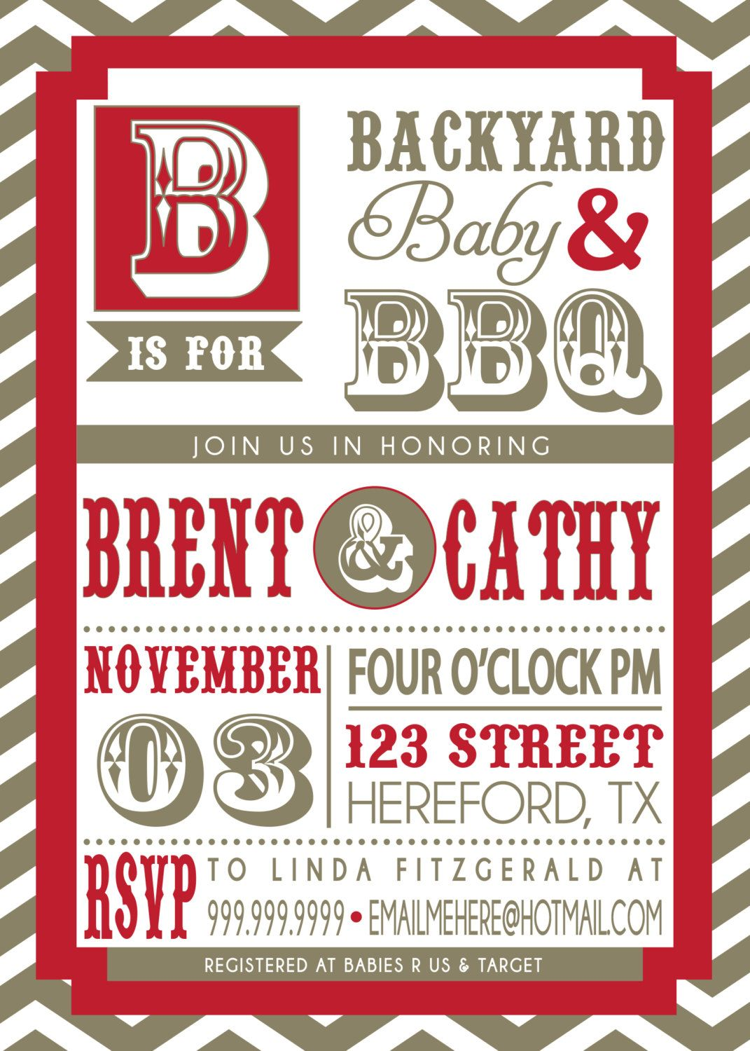 COUPLES bbq BABY SHOWER invitation. $18.00, via Etsy. | Baby Shower ...