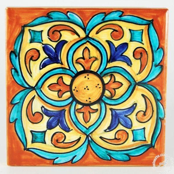 Italian ceramics tile 22   Deruta Italian pottery by Francesca ...