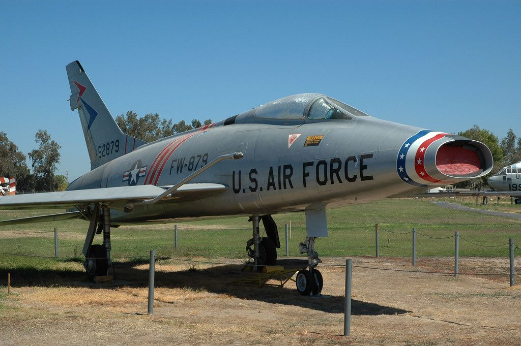 North American F100 Super Sabre at the Castle Air Museum