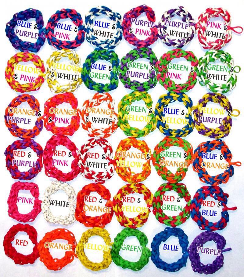 Rubber Band Bracelet Color Combination Reference