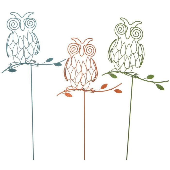 Owl Garden Stake Set   How Cute Are These Guys