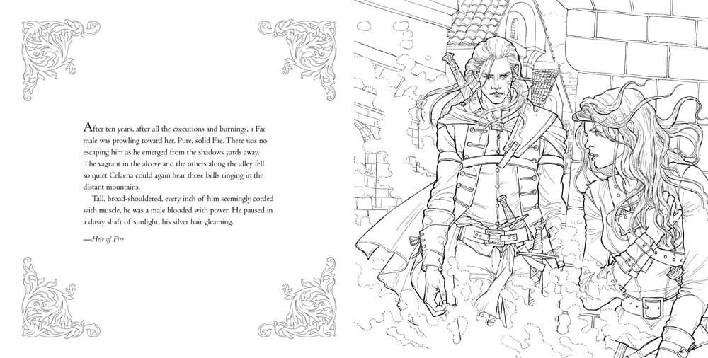 Bloomsbury Reveals Pages Of Throne Of Glass Coloring Book With