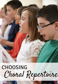 Choosing choral repertoire: Great thoughts about choosing high quality literature. Blog post includes a free choral repertoire template as well as a link to a list of great pieces!