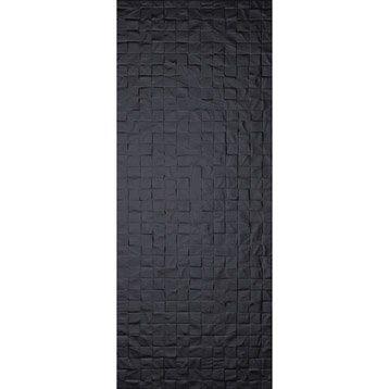Carrelage mural décor Loft Cubi en faïence, noir noir n°0, 20 x 502