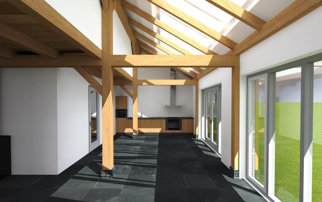 interieur modern huis met houten spanten - Google zoeken | Wonen ...