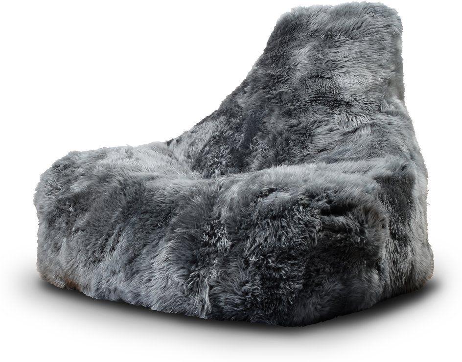 Mighty B Big Furry Bean Bag   Grey