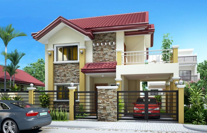 rachel lovely four bedroom two storey pinoy cool house plans - Rachel Home Plans