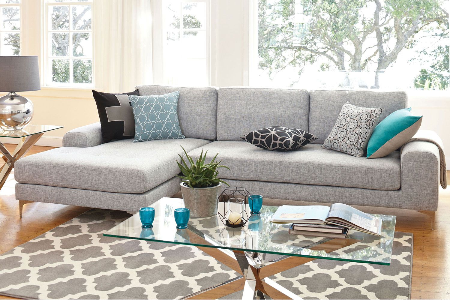 The stylish Abilene Fabric Chaise Sofa has a drop back which turns the chaise into a : harvey norman chaise - Sectionals, Sofas & Couches