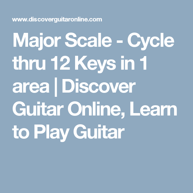 Major Scale - Cycle thru 12 Keys in 1 area | Discover Guitar Online ...