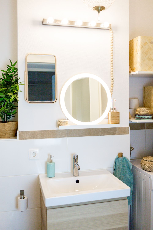 Stauraum Fur Ein Kleines Badezimmer Wir Zeigen Euch Unser Neues Bad Kleines Badezimmer Badezimmer Bad Einrichten