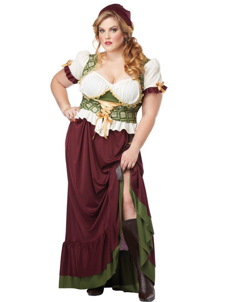 Plus size sexy midevil dress costume