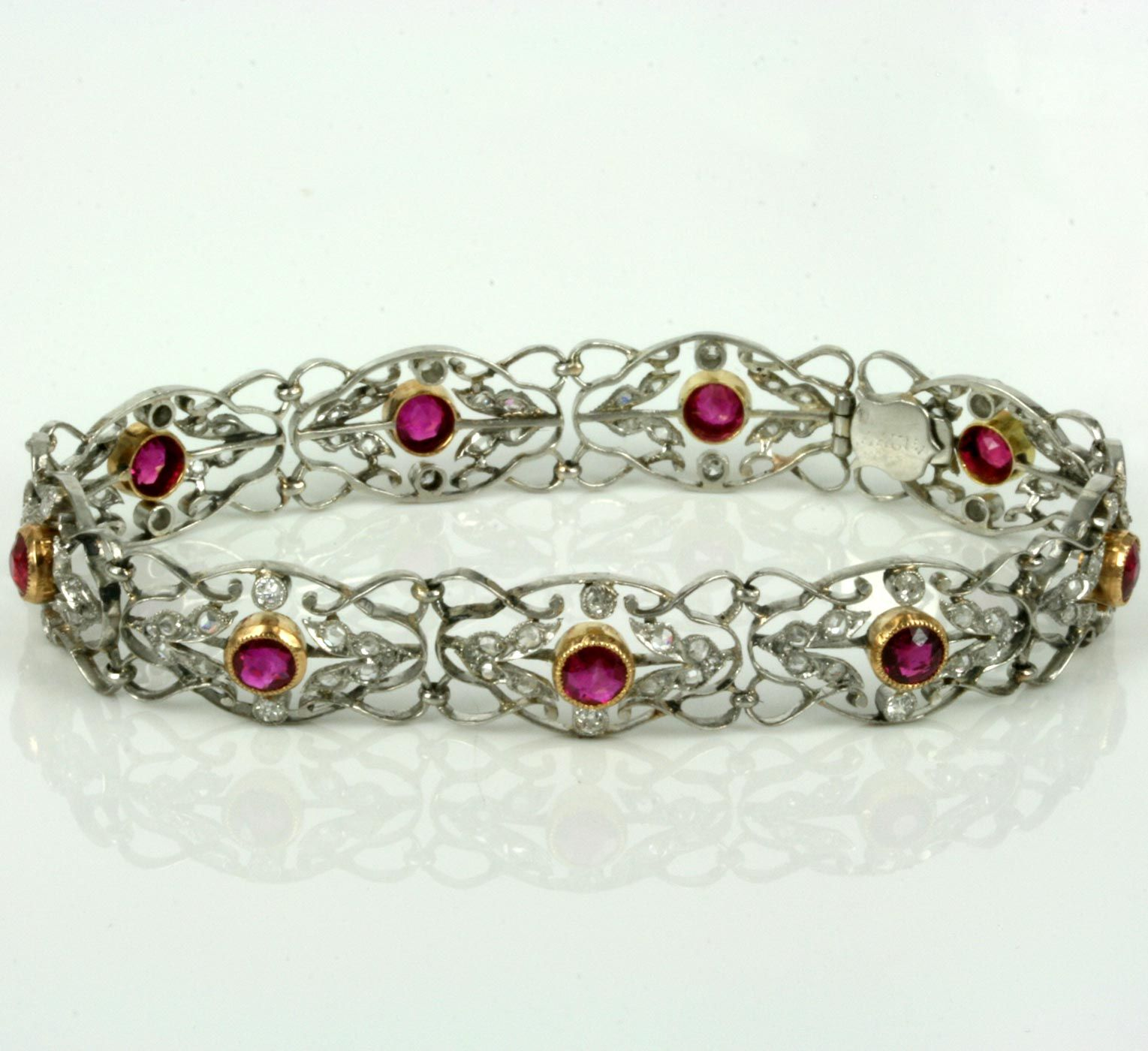 bracelet diamond purple sapphire kashmir ruby jewelry untreated and