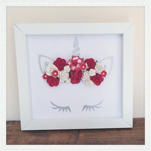 Pin By Jessica Merrill On Cricut Flower Shadow Box Diy