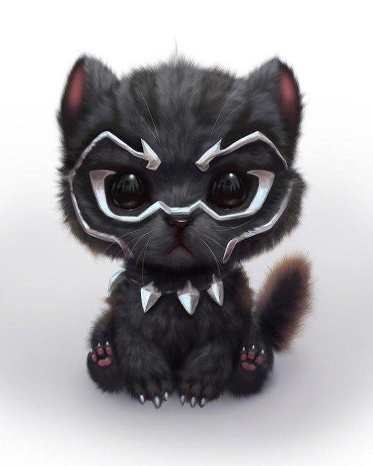 Marvel Cute Black Panther | Gambar hewan, Hewan, Bayi hewan