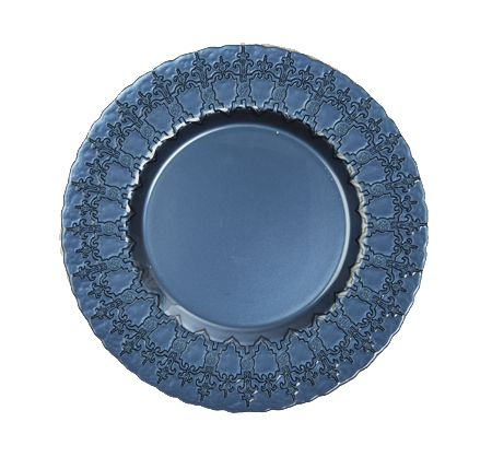 Bombay \u0026 Co Inc.  TABLETOP  Dinnerware  Metallic Blue  sc 1 st  Pinterest & Bombay \u0026 Co Inc. :: TABLETOP :: Dinnerware :: Metallic Blue Dessert ...
