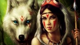 princess mononoke drawing uhd pink wallpaper