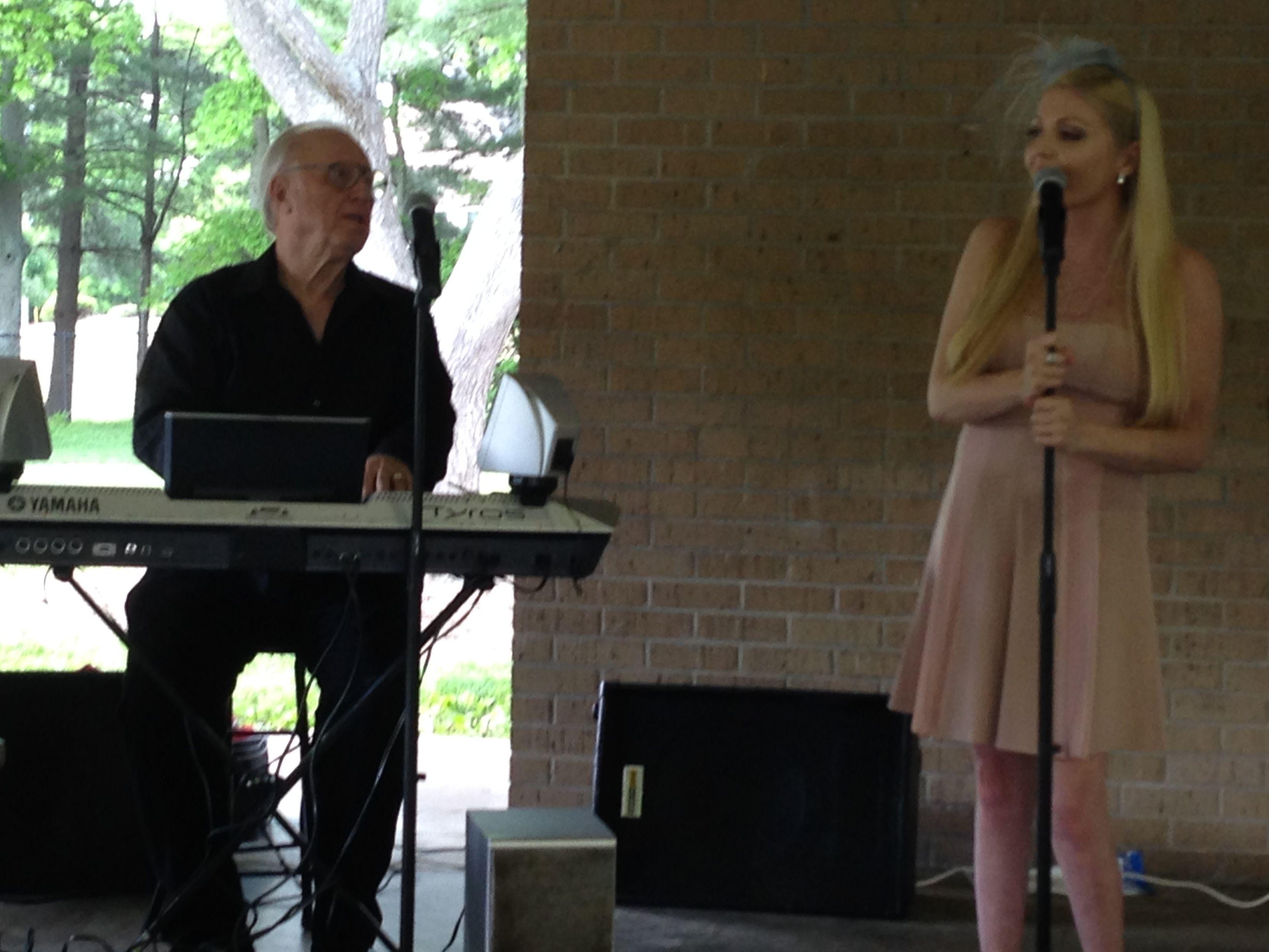 Nashville recording artist Laura Dodd accompanied by Grammy Award-winning songwriter Duane Hitchings. #konadubodycarelaunch