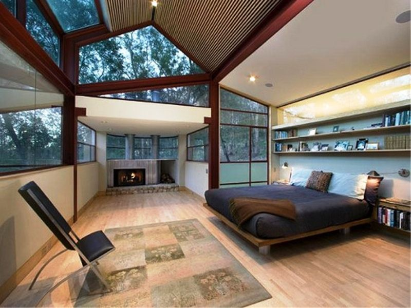 facinating and comfortable luxury celtic bedroom with glass roof