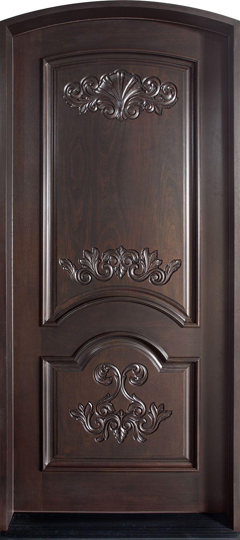 Wood Door Elevation : Mahogany solid wood front entry door single elevation