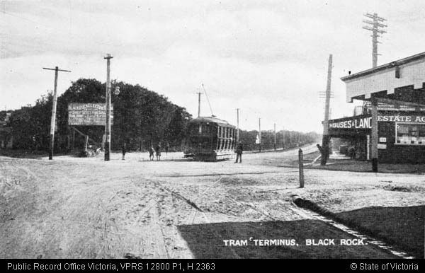 Black Rock Tram Terminus Melbourne Suburbs Mentone Black Rock