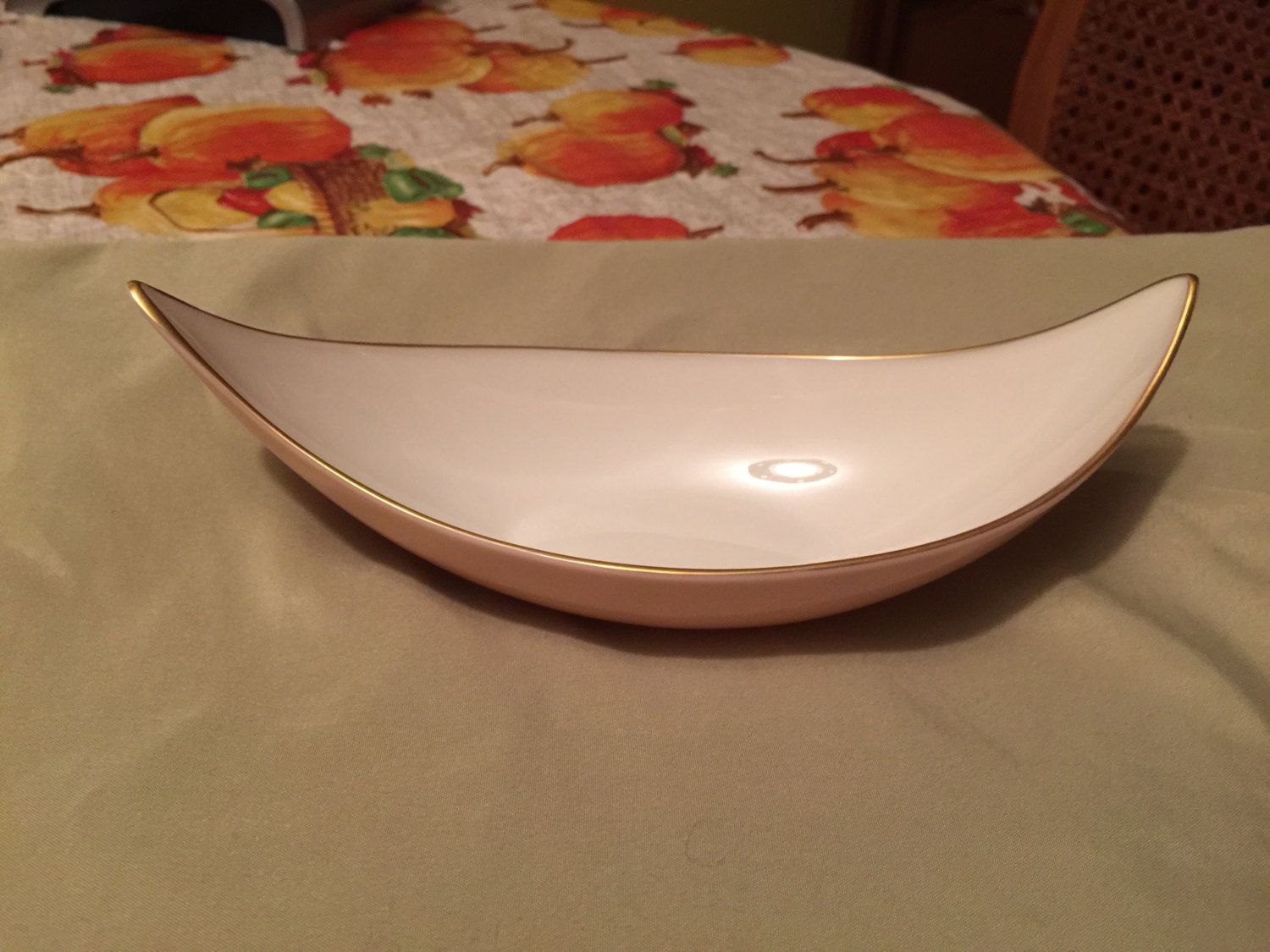 Lenox Peach and Cream Dish with 24 K Gold Trim by AlbertsonMiller on Etsy