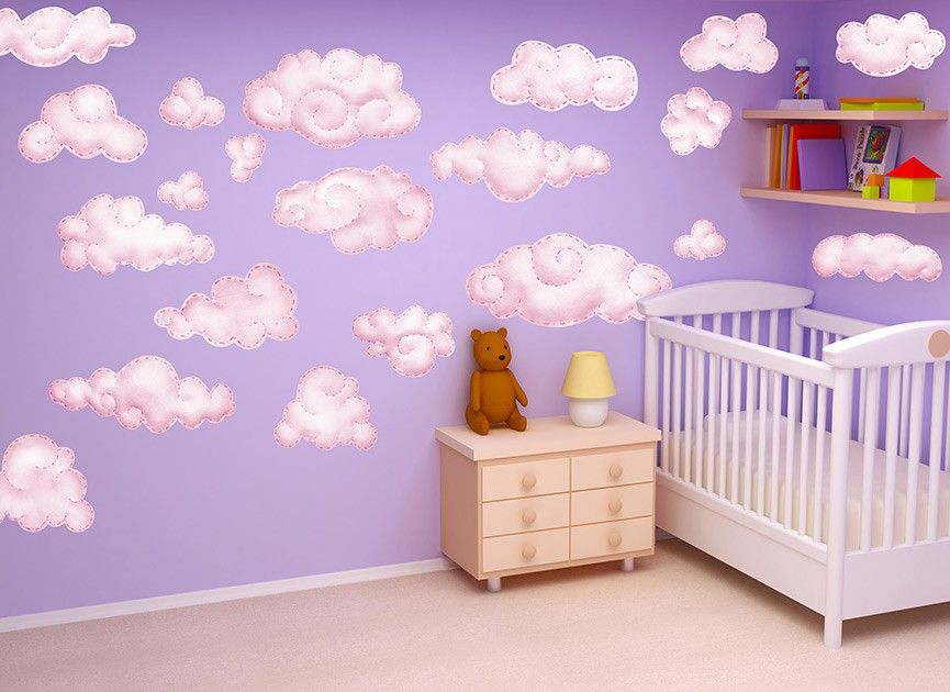 Awesome Pink Cloud Wall Decals