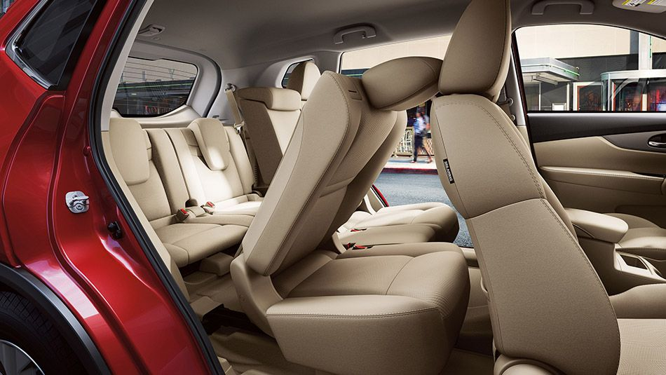 Nissan Rogue® SV shown in Almond Cloth with optional ...