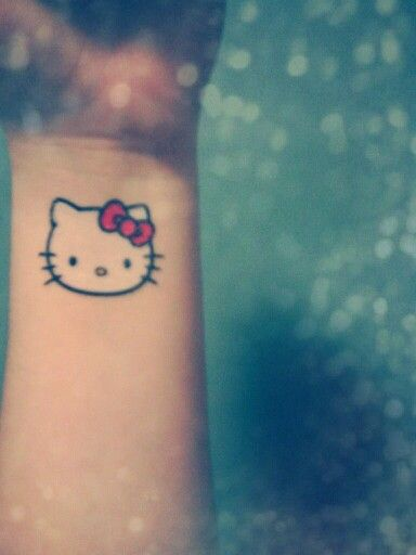Hello Kitty Tattoo Hello Kitty Tattoo Wrist Tattoo Small Tattoos Cat Tattoos Hello Kitty Tattoos Cat Tattoo Small Tattoos