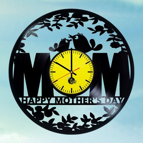 MOTHER\'S DAY HANDMADE VINYL RECORD WALL CLOCK FAN GIFT | Gift ideas ...