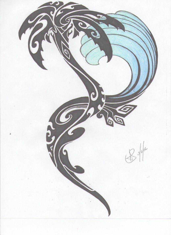 Sunrise tribal tattoo designs tribal sun - Tribal Palm Tree And Wave Tattoo
