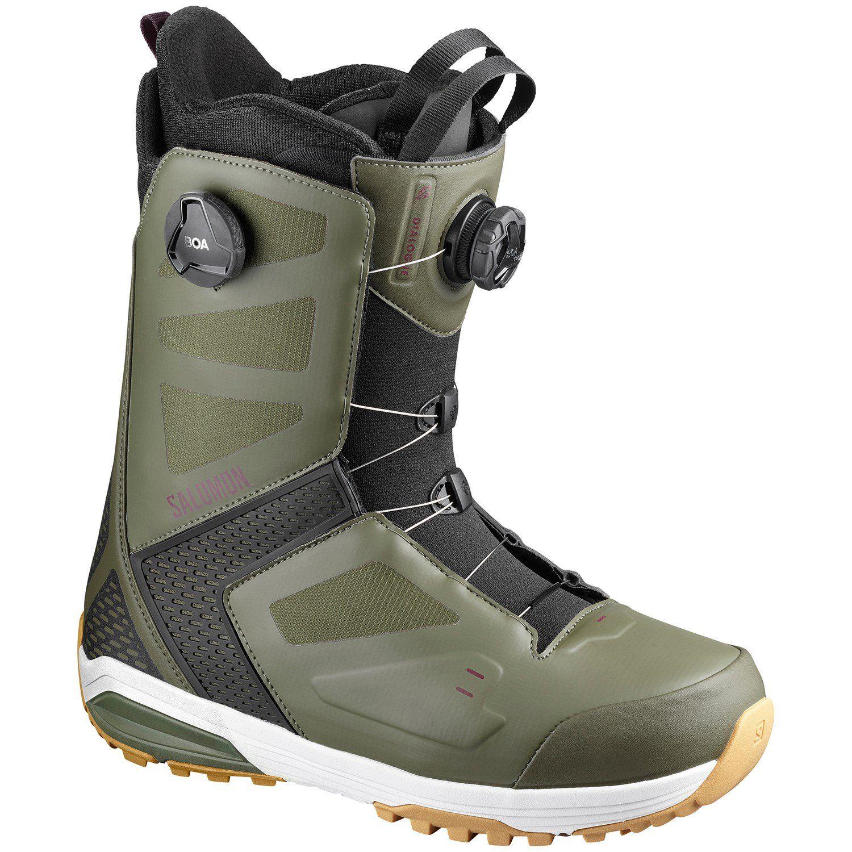 Salomon Dialogue Focus Boa Snowboard Boots 2020 12 5 In Green Rubber Boots Snowboard Snowboarding Gear