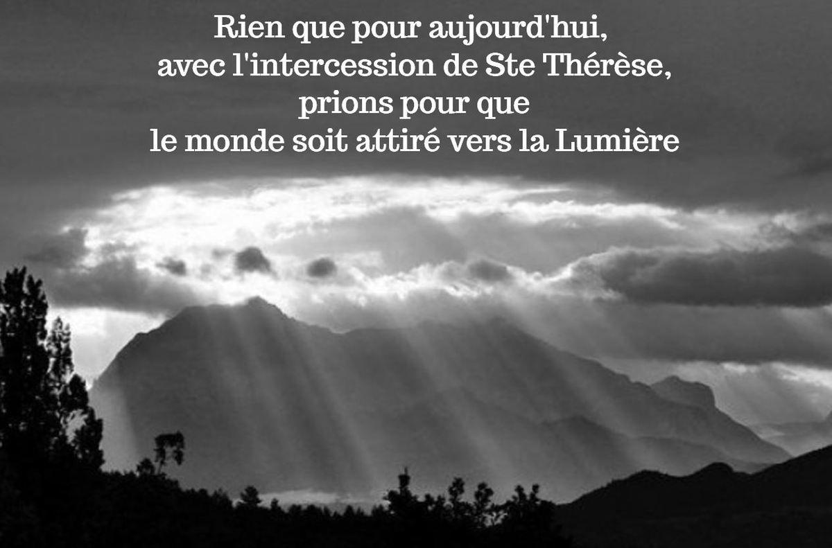 Tenebres Verset Ils Ne Sont Pas Du Monde Comme Moi Je Ne Suis Pas Du Monde Jean 17 16 Extrait Il Permit Que Mon Ame Fut Envahi Ste Therese Priere Therese