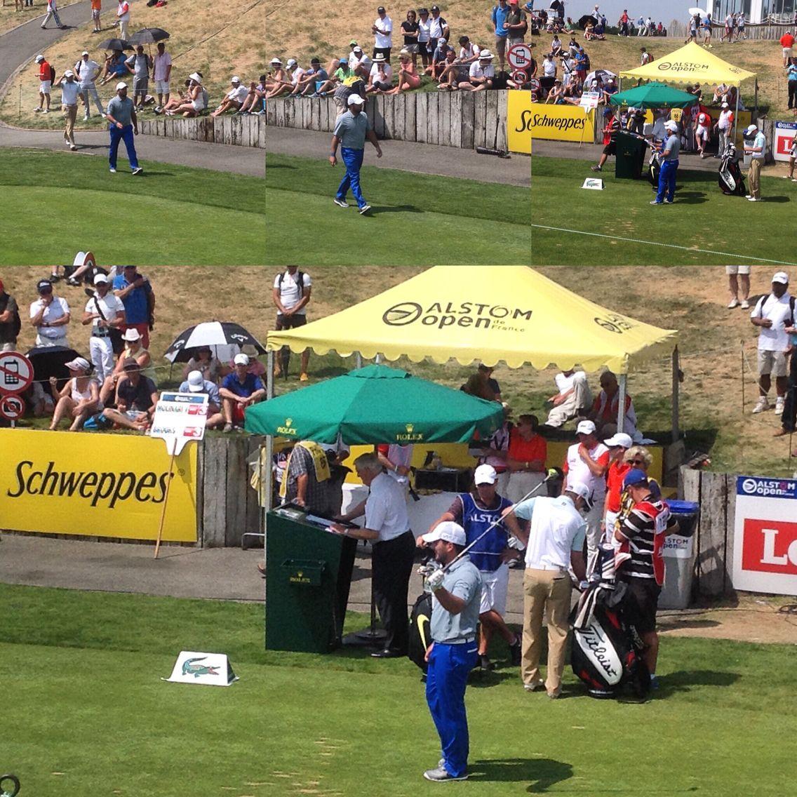 Molinari alla buca 1  #raimondi #raimondigolfshoes #golfshoes #opendefrance #madeinitaly #handmadeinitaly #alstomopendefrance