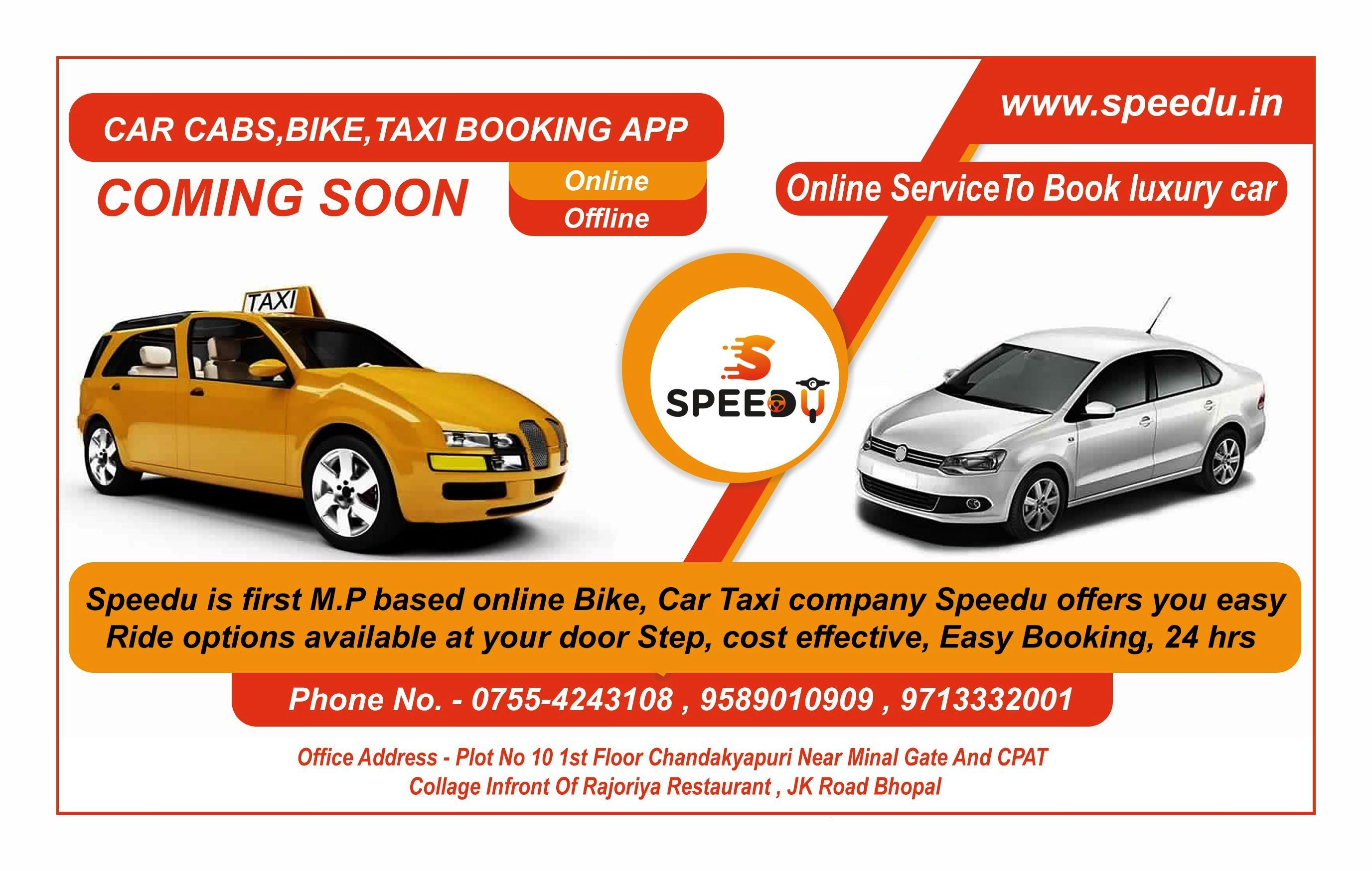 SpeedU is first MP based SpeedU offers you options at your door Step cost effective Easy Booking 24 hrs serviceSpeedU is first MP based SpeedU offers you options at your...