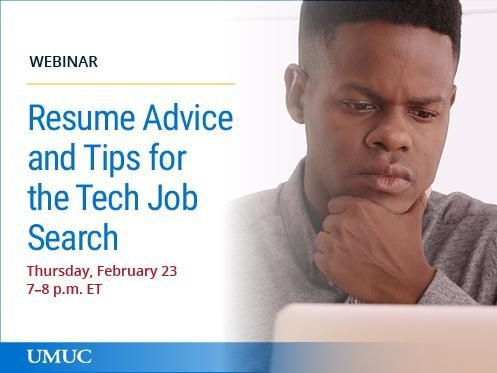 Register for this webinar to hear tech resume tips from Career - tech resume