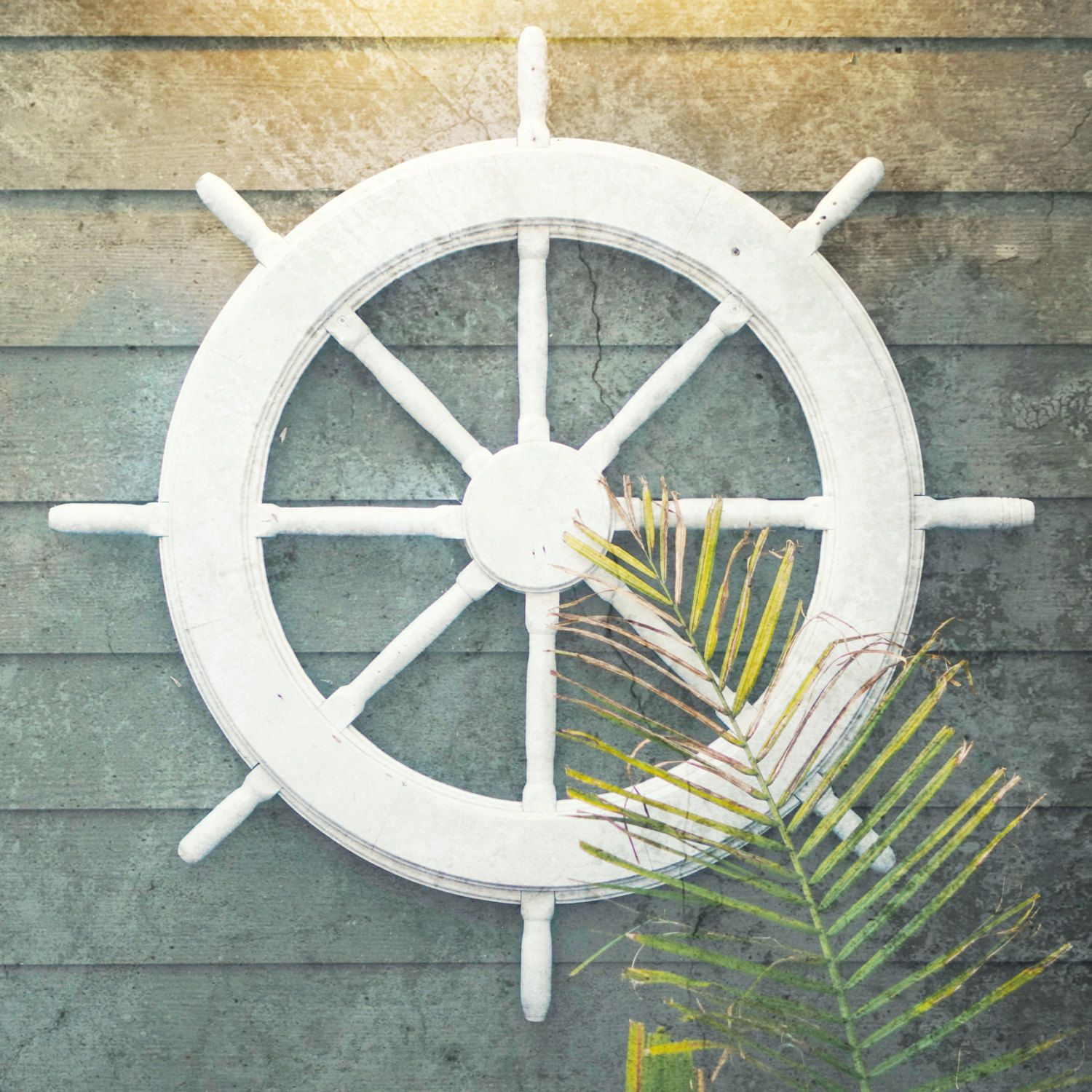 Ship Wheel Nautical Decor Coastal Decor Beach Coastal Wall