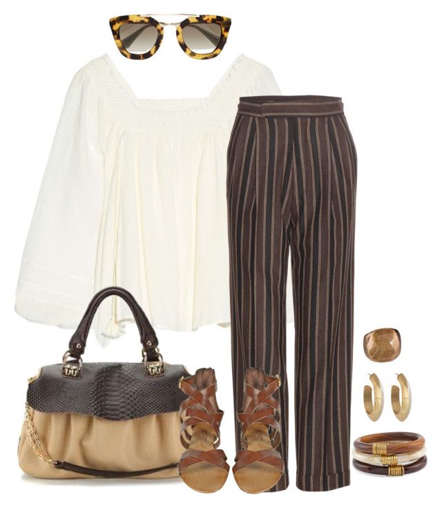 """""""Style#983"""" by mussedechocolate ❤ liked on Polyvore featuring Apiece Apart, Prada, Etro, Palazzo Bruciato, House of Harlow 1960, Chico's, Julie Cohn, women's clothing, women and female"""